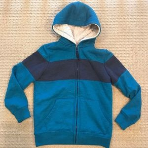 New! Lands End Heavyweight Sherpa Lined Hoodie